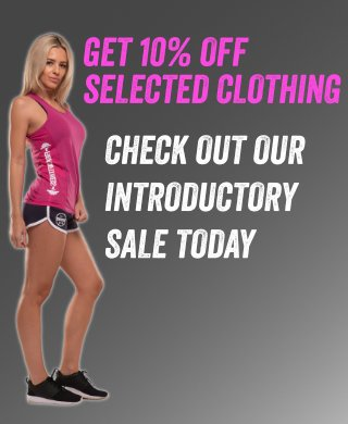 Fitness clothing sale 10% off